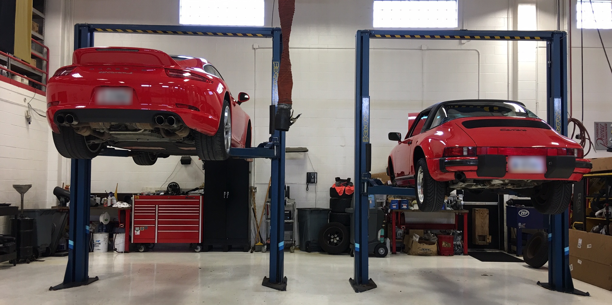 cars-on-lifts-euro-motorworks-shop-indianapolis